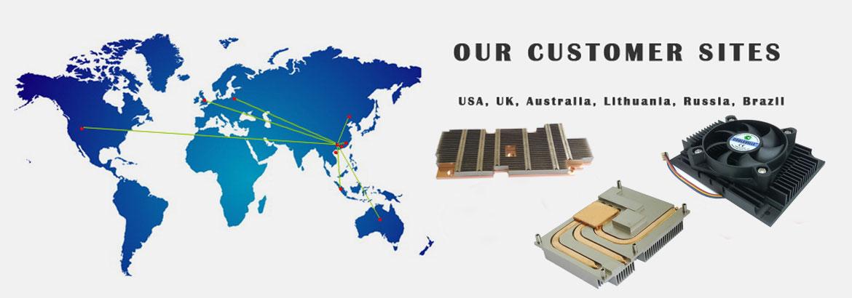 CPU散热器厂家提供的散热片,芯片散热片,远销海内外